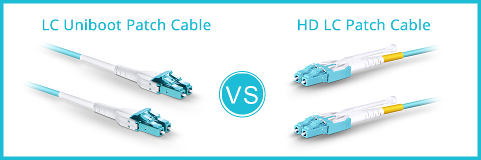 LC uniboot patch cable VS HD LC patch cable