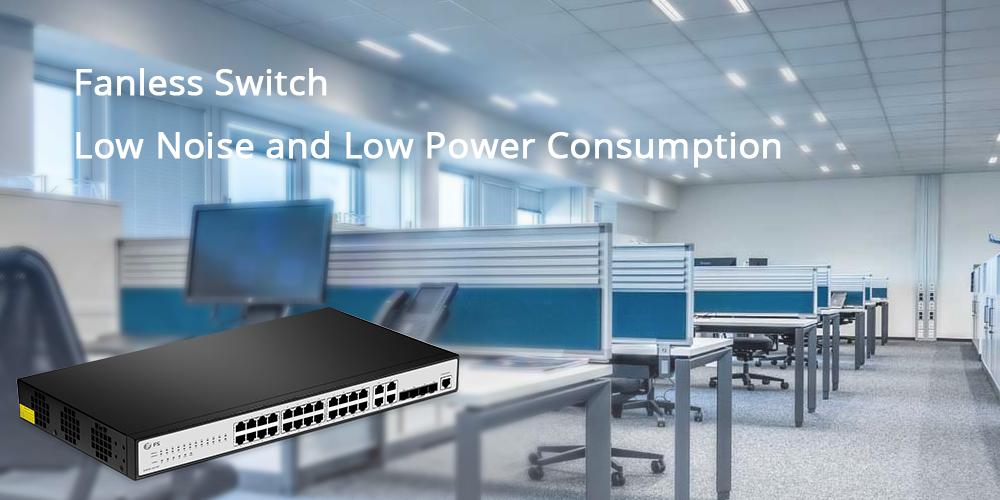 24-port fanless switch