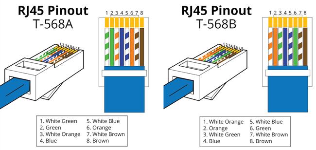 T568A vs. T568B