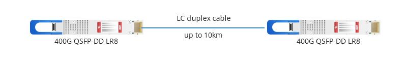 QSFP-DD LR8 Connection