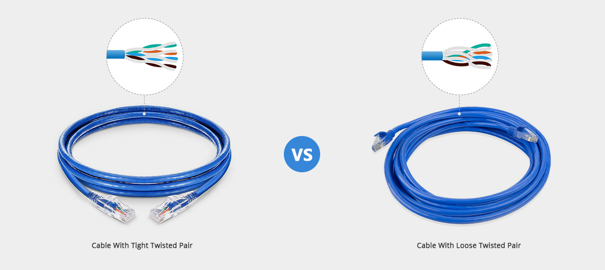 Cable with Tight Twisted Pair vs Cable with Loose Twisted Pair