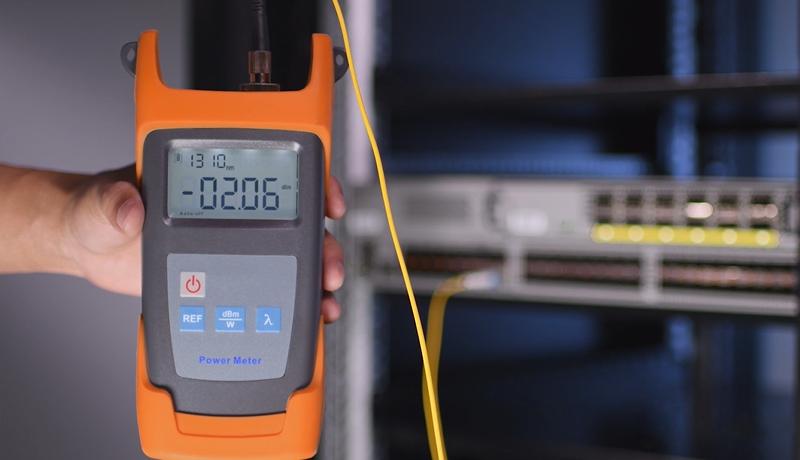 medir potencia óptica de transmisión y recepción de sfp con medidor de potencia optica