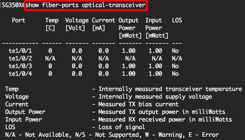SFP Module Optical Power Strength Tests on Cisco Switch