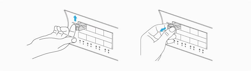 Remove a Bale-Clasp Latch Transceiver