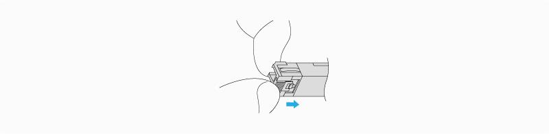 Remove a Slide Tap Latch Transceiver