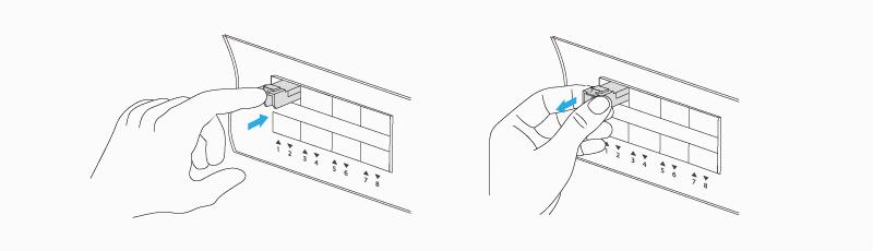 Remove an Actuator Button Latch Transceiver