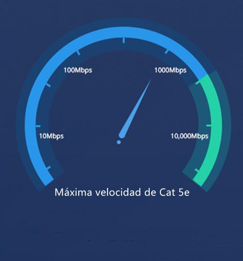 La velocidad de cable Cat 5e