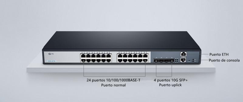 FS switch de 4 puertos uplinks