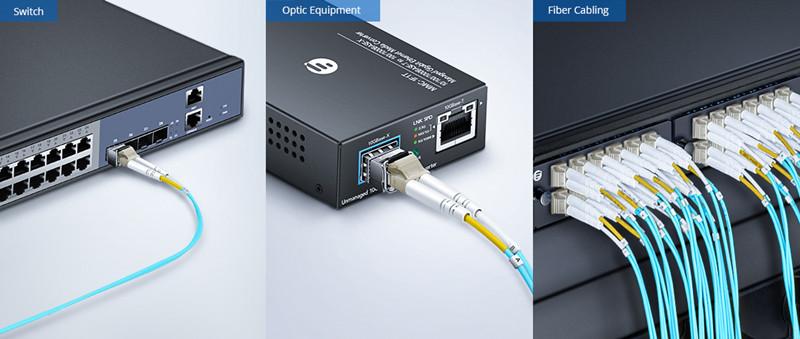 Aplicación de cable fibra multimodo