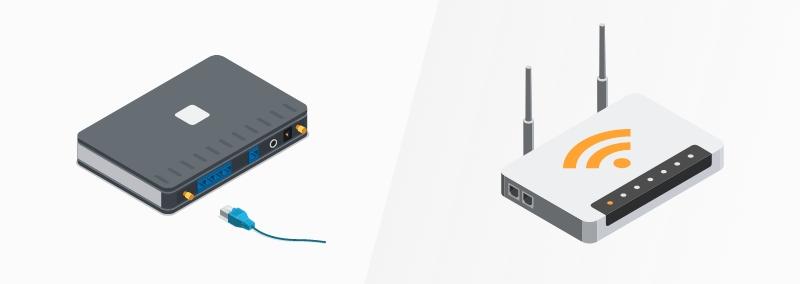 Router de cable vs router inalámbrico