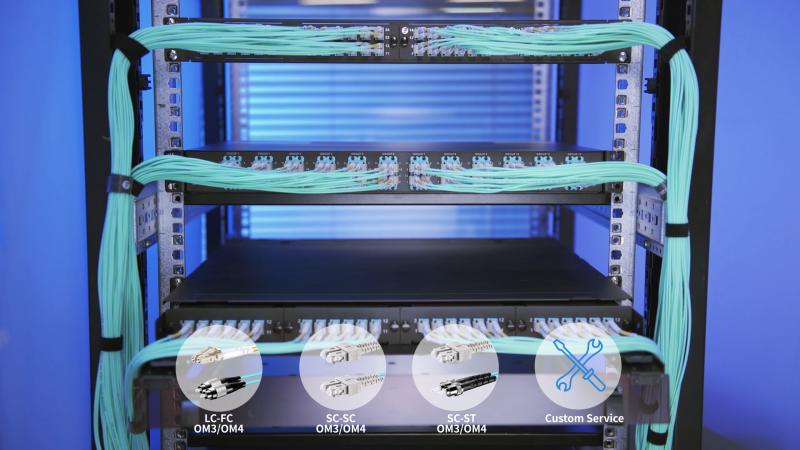 Câbles OM3 et OM4 LC SC ST FC