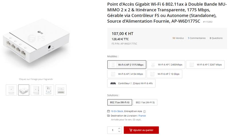 Point d'accès gigabit Wi-Fi 6