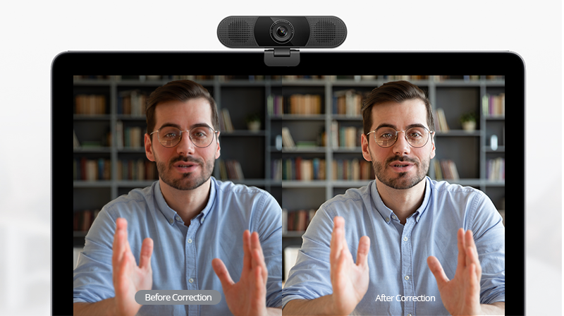 Webcam Automatic Light Correction Function