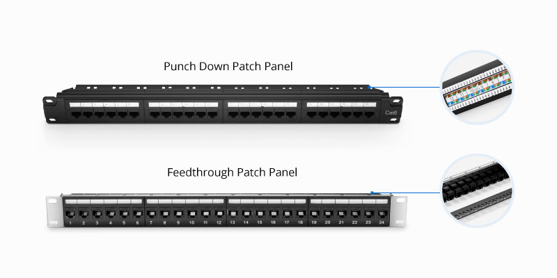 Cat6 punch down vs feedthrough patch panel