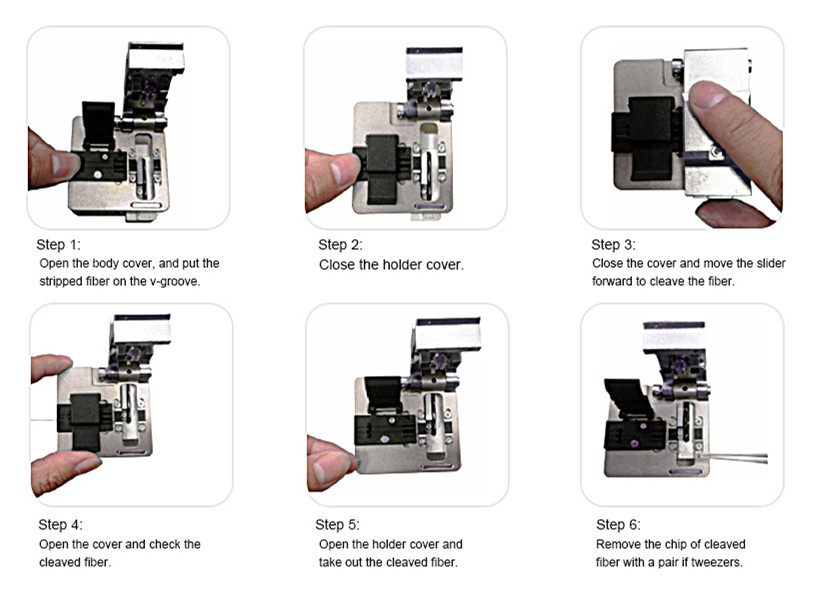 6 steps for fiber cleaving by high precision fiber cleaver