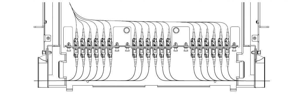 rack mount fiber enclosure routing