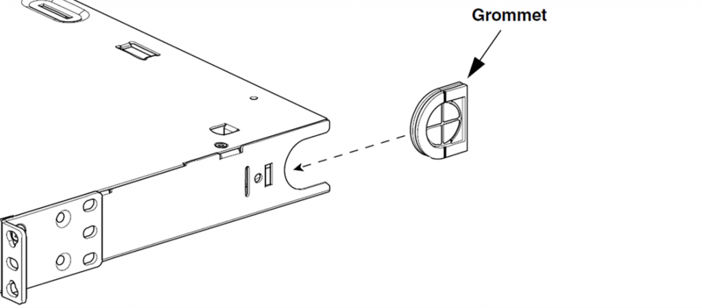 rack mount fiber enclosure grommet