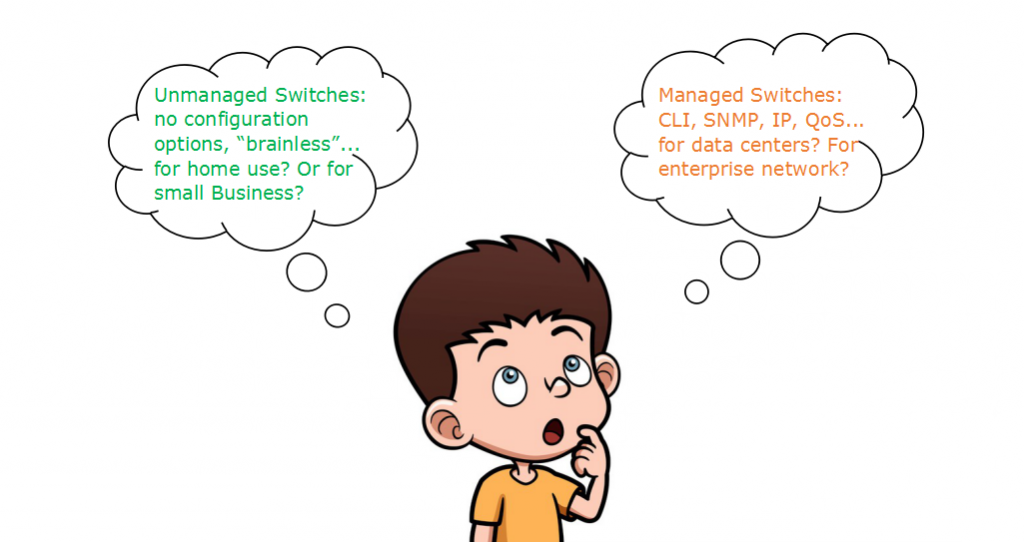 managed switch vs unmanaged switch