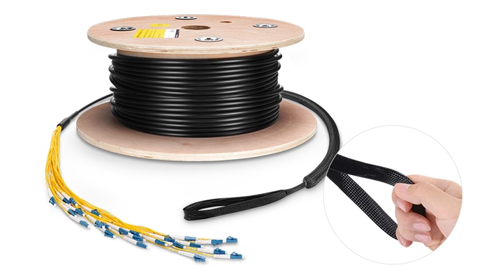 pulling eye of multifiber indoor/outdoor pre-terminated cable