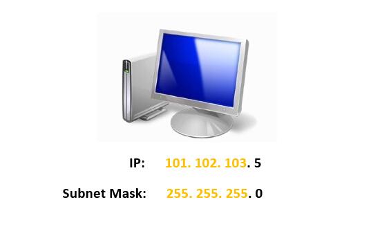 ip address and subnet mask